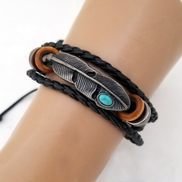 Tribal Feather Bracelet - Silverado Outpost