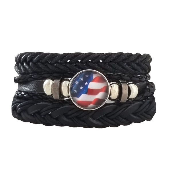 USA Flag Bracelet Set
