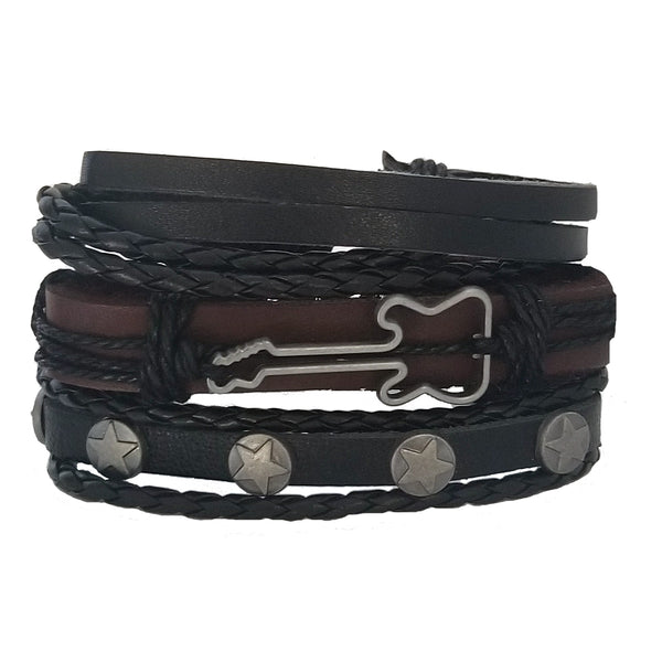 Rock Star Guitar Bracelet Set - Silverado Outpost