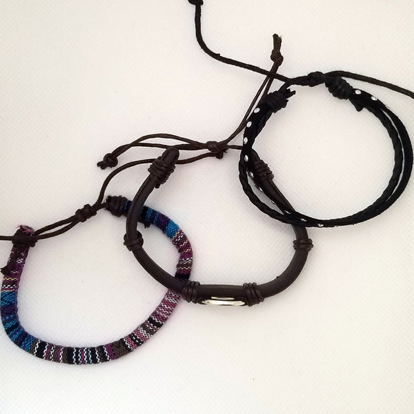 Hockey Multilayer Bracelet Set - Purple - Silverado Outpost