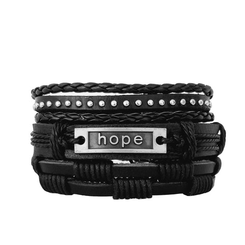 Hope Bracelet Set - Black