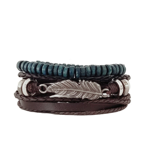 Madrid Feather Bracelet Set