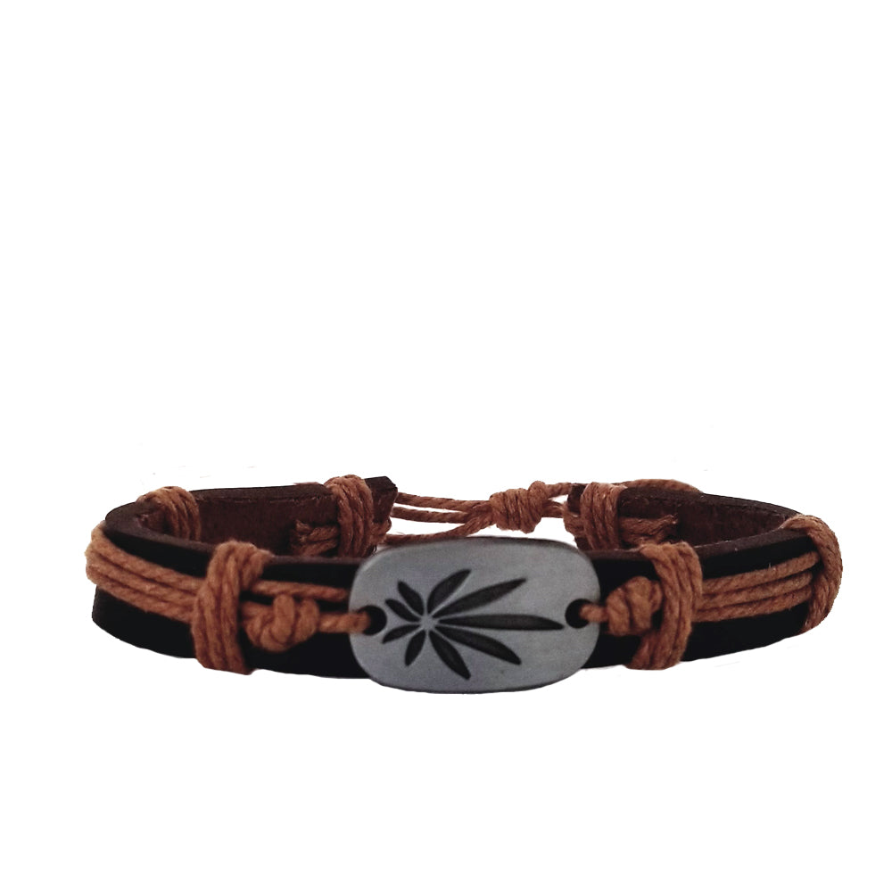 Cannabis Bracelet - Brown
