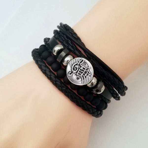 Musical Notes Bracelet Set