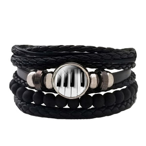 Piano Leather Bracelet Set - Silverado Outpost