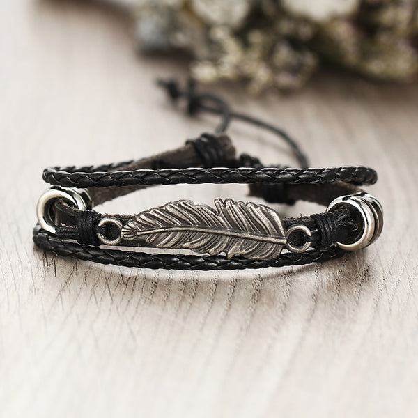 Feather Multilayer Bracelet Set - Silverado Outpost