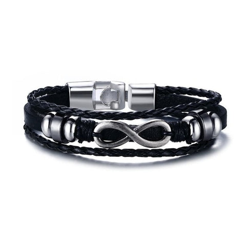 Women's Infinity Leather Bracelet - Silverado Outpost