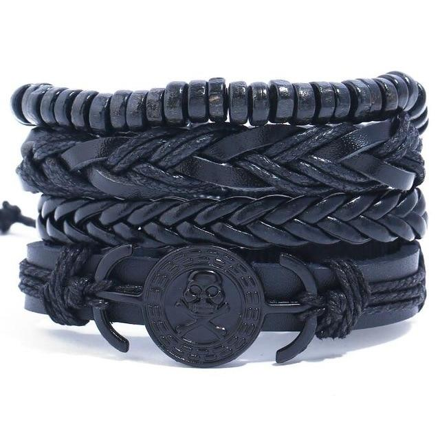 Pirate/Skull Multilayer Bracelet Set - Silverado Outpost