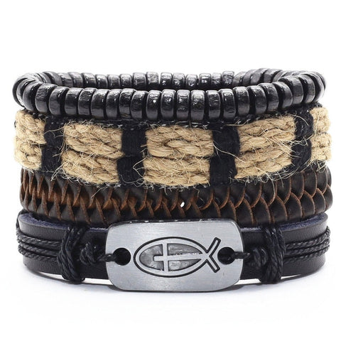 Devotion Leather Bracelet Set - Silverado Outpost