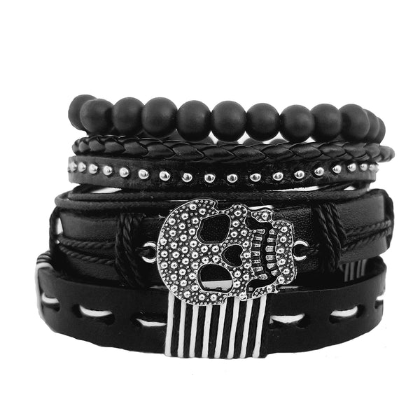 Skeleton Multilayer Bracelet Set