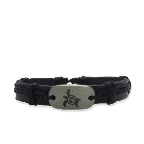 Turtle Peace Bracelet - Black