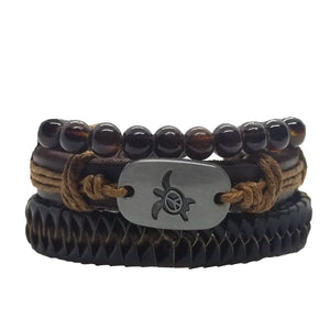 Turtle Peace Bracelet Set