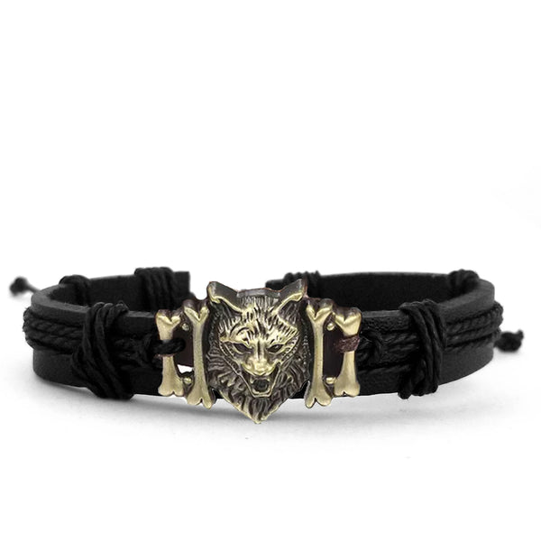 Wolf Multilayer Bracelet Set