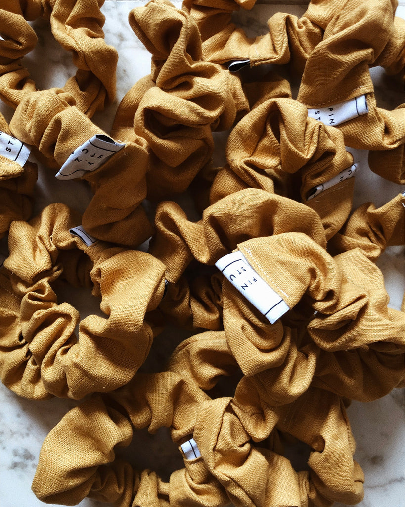 Zero-Waste Linen Scrunchie