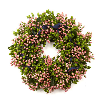 The Pink Coco Door Wreath - Hayford & Rhodes International