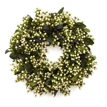 The White Coco Door Wreath - Hayford & Rhodes International