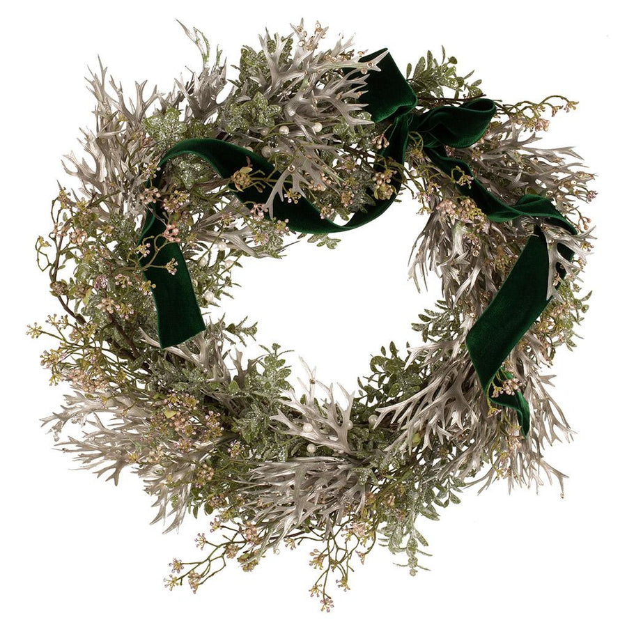 The Mistletoe Faux Door Wreath