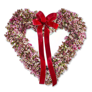 The Bisous Heart Door Wreath