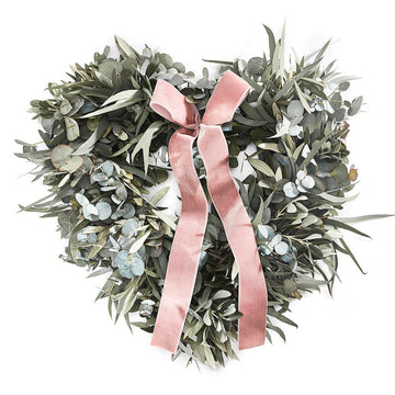 The Eucalyptus Heart Door Wreath