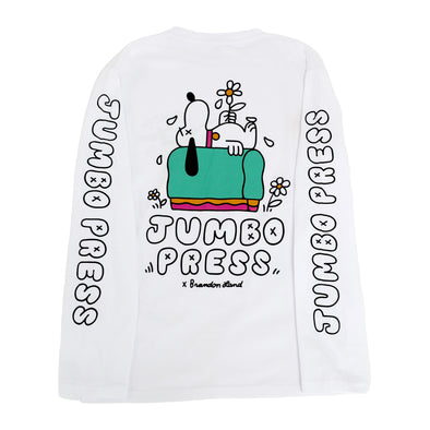 Print Til I'm Dead Long sleeve Tee (White)