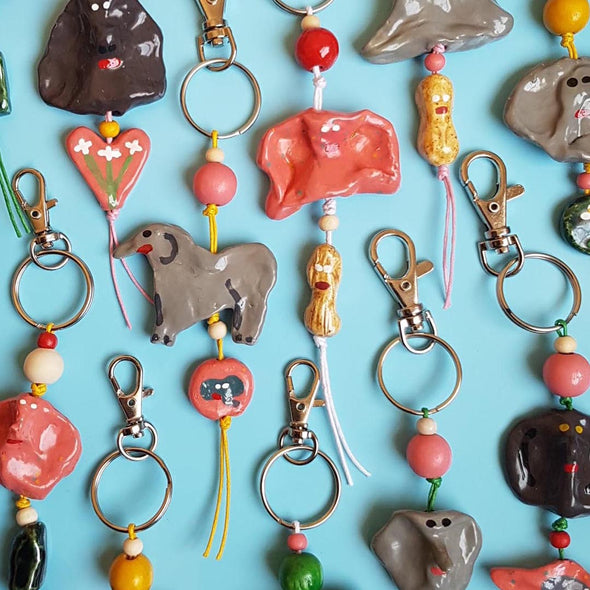 Ceramic Jumbo Key Chains