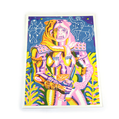 Lion Girl Risograph Print
