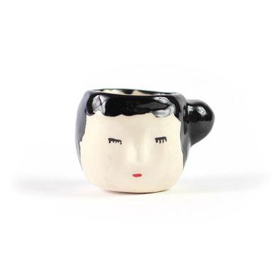 Mini Ceramic Head By Lourdes Salgado