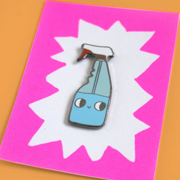 Hard Enamel Spray Bottle Pin by Eva Stalinski