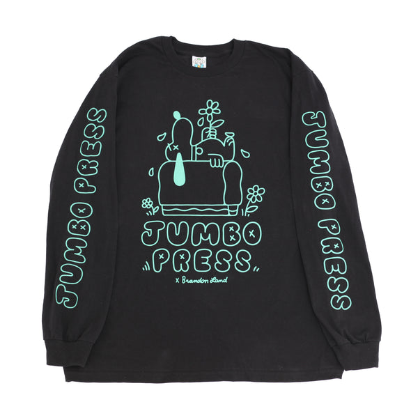 Print Til I'm Dead Long sleeve Tee (Black)