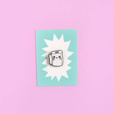 Hard Enamel Toilet Paper Roll Pin by Eva Stalinski
