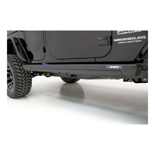 Power Running Boards >> Aries Actiontrac Power Running Boards 2007 2018 Jeep Wrangler Jk 4 Door