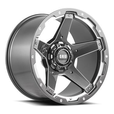 GRID WHEELS GD04 | 20X9 6X139.7 6X135 DUAL-DRILL -12 OFFSET GD0420090237G108