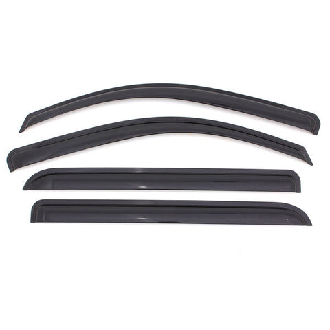 4PC WINDOW VISOR - SMOKED | 1999-2016 F250/F350 & 2008-2016 F450/F550 CREW CAB