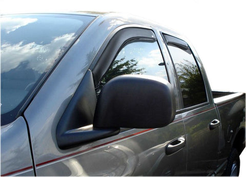 AVS VENTVISOR IN-CHANNEL 4PC | 2002-2009 DODGE RAM 1500 QUAD CAB