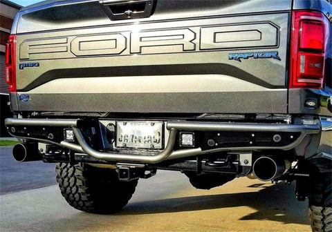 N-FAB RB-H REAR BUMPER GLOSS BLACK | 2015-2019 FORD F-150