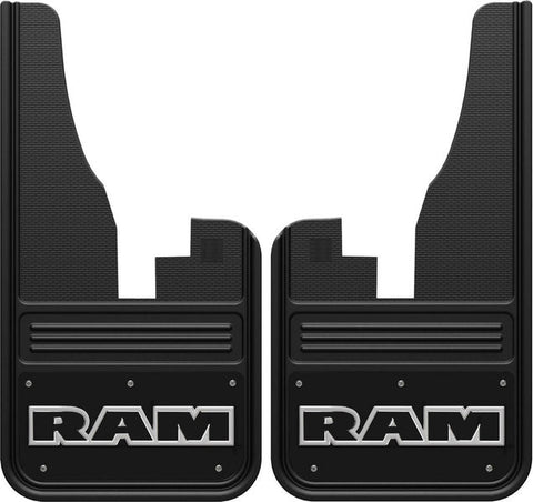 GATORBACK RAM TEXT MUD FLAPS - BLACK/WRAP