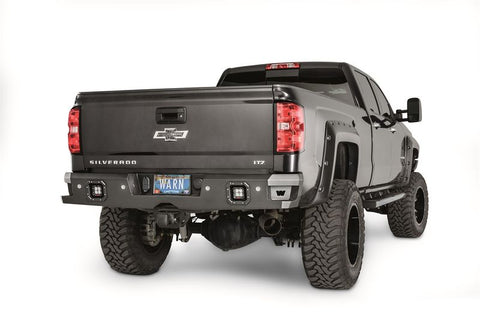 WARN ASCENT REAR BUMPER w/DUAL LIGHT CUTOUTS TEXTURED BLACK STEEL | 2014-2018 CHEVY/GMC