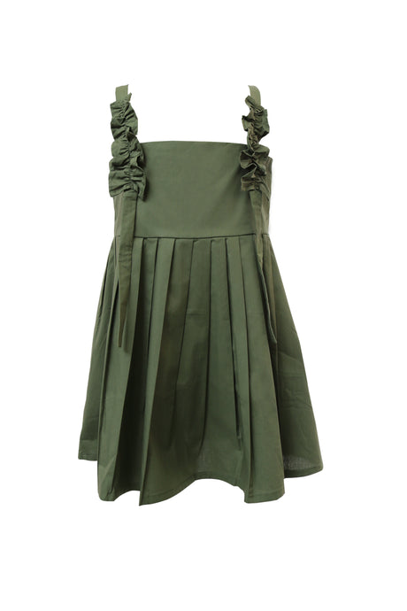 London Frill Pleated Dress