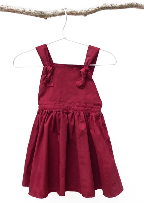 Iris Knotted Overall in Maroon