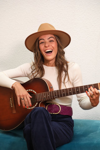 Chapeau pour femmes Ondine camel made in France