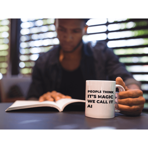 CodeParel | People Think it Magic We Call it Artificial Intelligence | Developer Coffee Mug