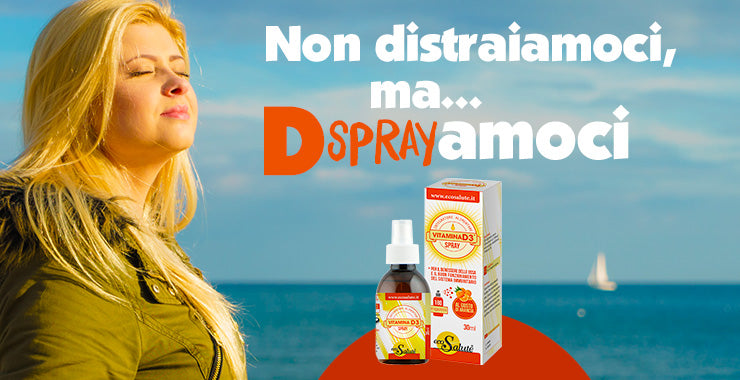 VITAMINA D3 SPRAY: LA VITAMINA DEL SOLE QUANOD IL SOLE NON C'E'!