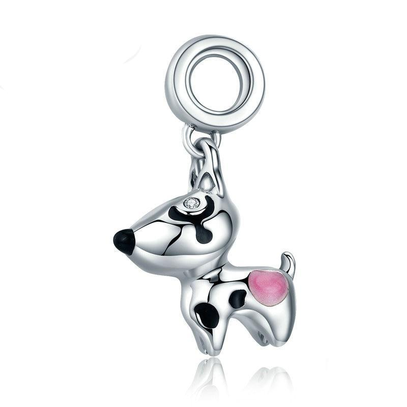 925 Sterling Silver Cute Puppy  Dog Animal Pendant