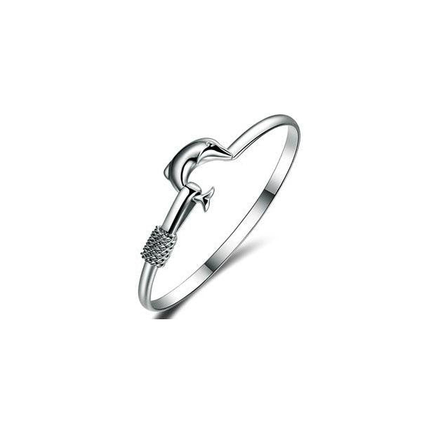 Dolphin Simple Love Bangle jewelry