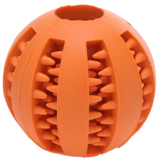 Pet Dog Puppy Cat Rubber Ball Chew Treat Cleaning Training Dental Teething Pet Chew Toy Ball