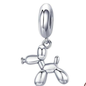 925 Sterling Silver Balloon Dog Pendant
