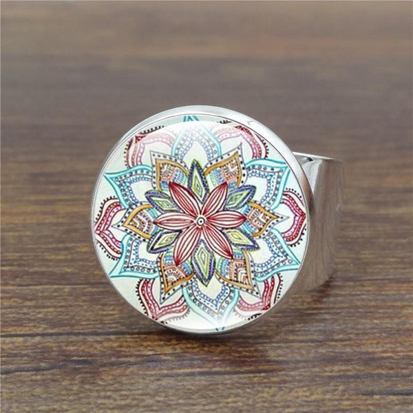 Fashion Women Silver Ring Mandala Nonofy - Nonofy TM
