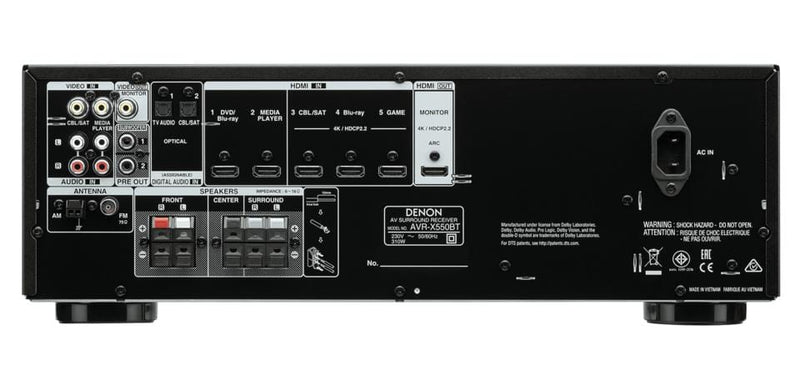 Denon AVR-X550BT - Digibit