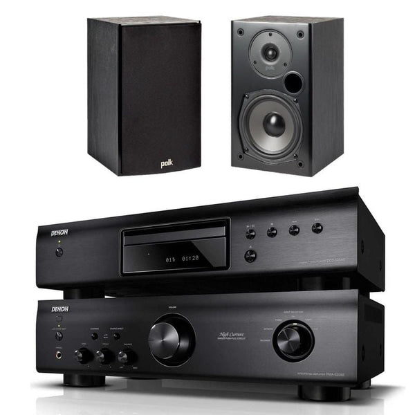 Denon PMA520 + Denon DCD-520 + Polk Audio T15 - Digibit