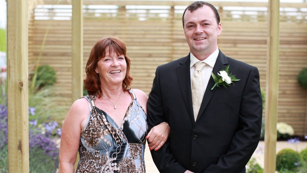 Patricia O'Connor with her son Richard